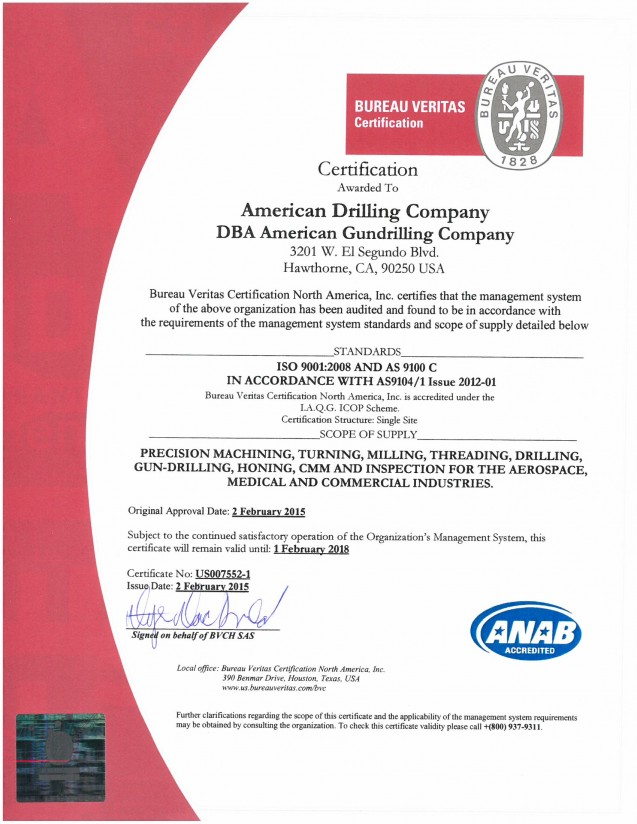 AS 9100 Certification